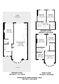 Large floorplan for Ravensdale Avenue, North Finchley, N12