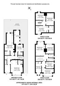 Large floorplan for Norbury Crescent, Streatham, SW16