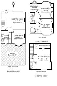 Large floorplan for Empire Road, Perivale, UB6