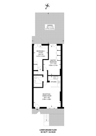 Large floorplan for Ledbury Road, Notting Hill, W11