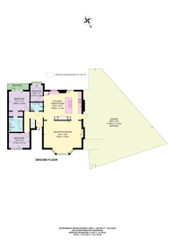 Large floorplan for Hampstead Hill Gardens, Hampstead, NW3
