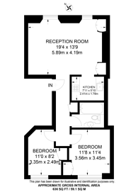 Large floorplan for Albany Street, Marylebone, NW1