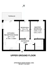 Large floorplan for City View Point, Tower Hamlets, E14