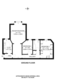 Large floorplan for Finchley Road, Child's Hill, NW2