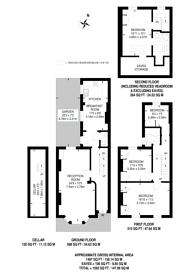 Large floorplan for Rosaline Road, Munster Village, SW6