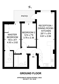 Large floorplan for Regal House, Imperial Wharf, Imperial Wharf, SW6