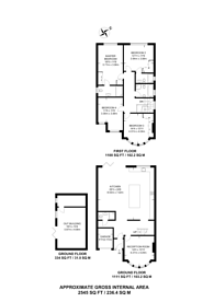 Large floorplan for Suffolk Road, Pinner, HA2