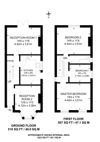 Large floorplan for Kings Road, Kingston, KT2
