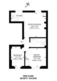 Large floorplan for Agar Grove, Camden, NW1