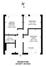Large floorplan for Abbots Park, Brixton Hill, SW2