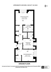 Large floorplan for Hampstead Lane, Highgate, N6