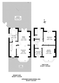 Large floorplan for Whitton Dene, Hounslow, TW3