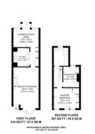 Large floorplan for Turner Road, Walthamstow, E17