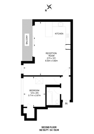 Large floorplan for Elm Grove, Wimbledon, SW19
