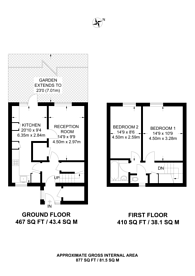 Large floorplan for Tamworth Road, Central Croydon, CR0