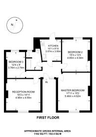 Large floorplan for Haringey Park, Crouch End, N8