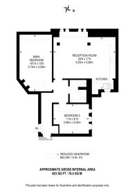 Large floorplan for Southampton Row, Bloomsbury, WC1B