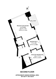 Large floorplan for Grantham House, Docklands, E14