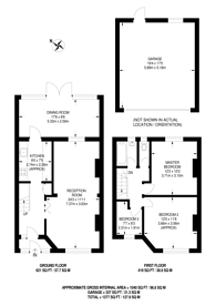Large floorplan for Belmont Avenue, Alperton, HA0