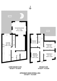 Large floorplan for Monthope Road, Whitechapel, E1
