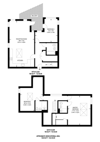 Large floorplan for Rope Court, Limehouse, E14