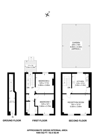 Large floorplan for Elizabeth Avenue, Islington, N1