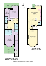 Large floorplan for Egerton Gardens, Knightsbridge, SW3