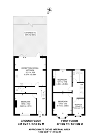 Large floorplan for Southbury Road, Enfield Town, EN1