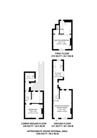 Large floorplan for Bourne Street, Belgravia, SW1W