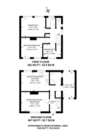 Large floorplan for Cabell Road, Guildford, GU2