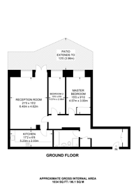 Large floorplan for Rosebery Avenue, Islington, EC1R