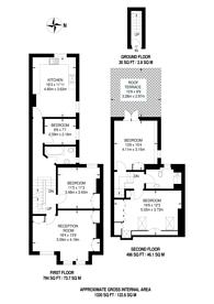 Large floorplan for Collingbourne Road, Shepherd's Bush, W12