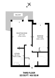 Large floorplan for Railway Approach, Harrow, HA1