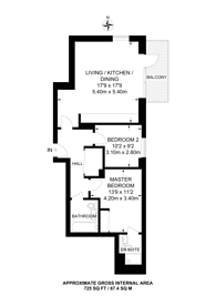Large floorplan for Lyon Road, Harrow on the Hill, HA1