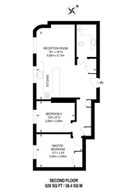 Large floorplan for Ladbroke Grove, Notting Hill, W11