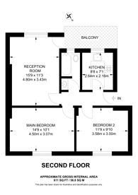 Large floorplan for Lordship Terrace, Stoke Newington, N16