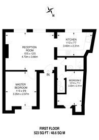Large floorplan for Hill Rise, Richmond Hill, TW10
