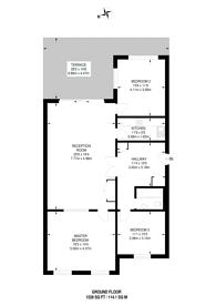 Large floorplan for Kimberley Road, Queen's Park, NW6