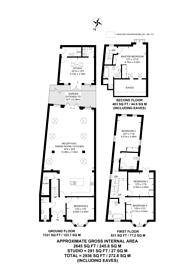Large floorplan for Harbord Street, Bishop's Park, SW6