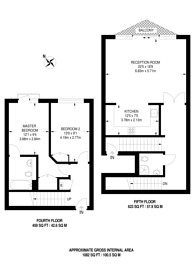 Large floorplan for Newton Place, Canary Wharf, E14