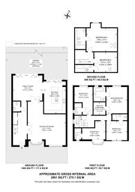 Large floorplan for Ullswater Crescent, Kingston Vale, SW15