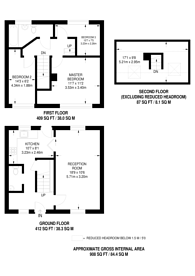 Large floorplan for Amwell Close, Enfield, EN2