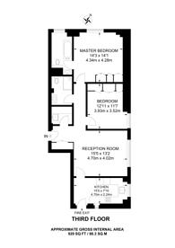 Large floorplan for Grosvenor Square, Mayfair, W1K