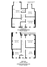 Large floorplan for Elmbourne Road, Balham, SW17