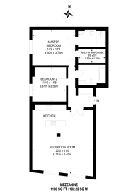 Large floorplan for Tavistock Street, Covent Garden, WC2E