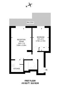 Large floorplan for Craven Hill Gardens, Bayswater, W2