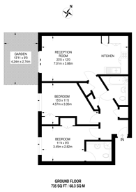 Large floorplan for Acton Lane, Chiswick, W4