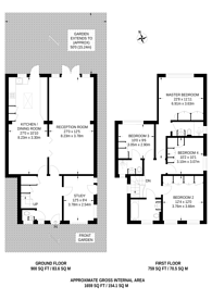 Large floorplan for East Close, Ealing, W5