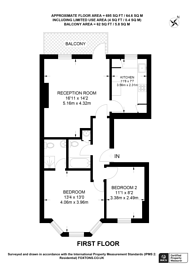 Large floorplan for Philbeach Gardens, Earls Court, SW5