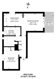 Large floorplan for Carrara Wharf, Hurlingham, SW6